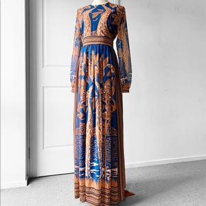 FLORYDAY Giraffe Print Maxi Dress